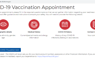 COVID-19 Vaccination Appointment Information Requested Oklahoma Department of Health Website