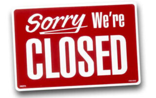 Our locations are closed for the holiday