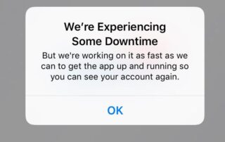 We're Experiencing Down Time, App Unavailable