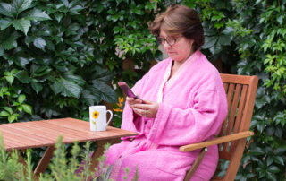 Banking Anywhere, even in the garden