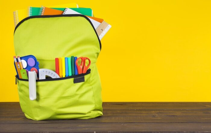 Community Resources back-to-school supplies