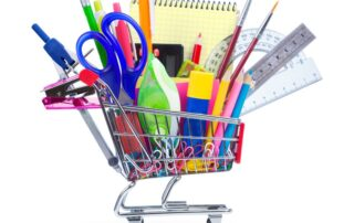 Back-to-school supplies and shopping